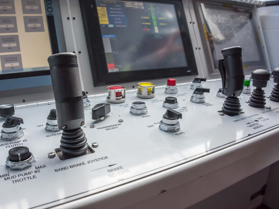 Close up of various controls