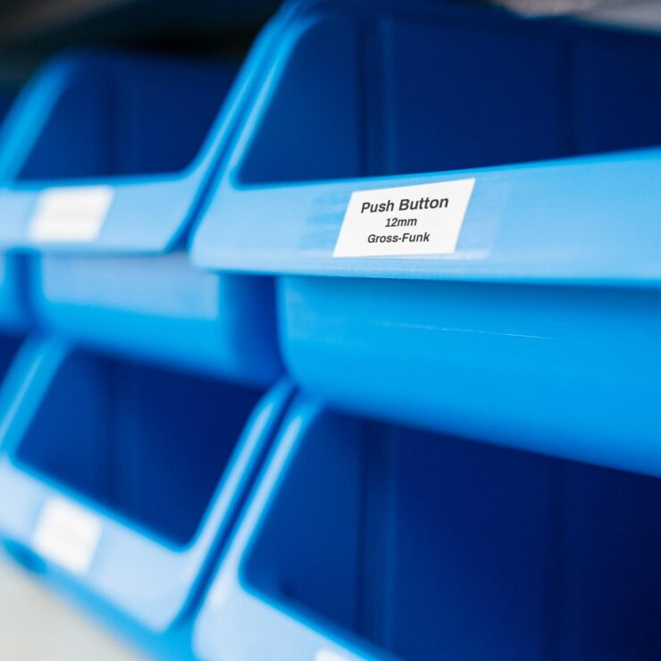 Blue bins for small products