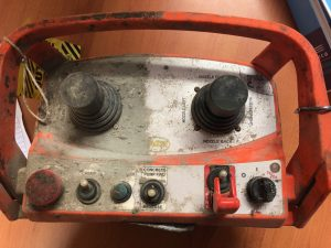 A half cleaned industrial remote control